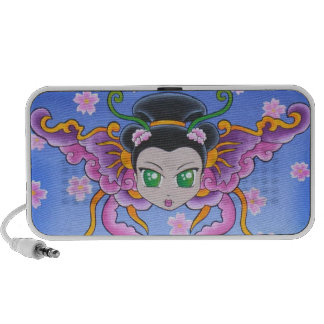 Princesse chinoise Butterfly Speakers Haut-parleur Portable