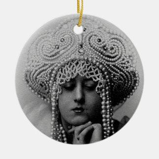 Princesse Christmas Ornament de glace Ornement Rond En Céramique