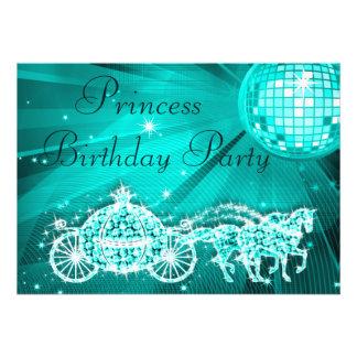 Princesse Coach chevaux et anniversaire de boule Invitations Personnalisées