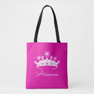 Princesse Crown Custom Personalized de roses Tote Bag