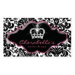 Princesse Crown Floral Damask des bijoux 232 Carte De Visite Standard
