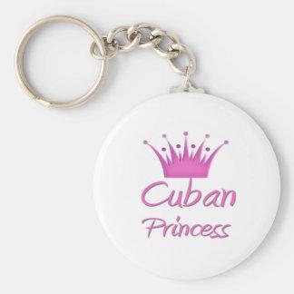 Princesse cubaine porte-clé rond