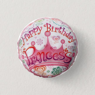 princesse d'anniversaire badge