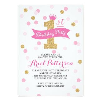 Princesse d'anniversaire de la fête d'anniversaire carton d'invitation  12,7 cm x 17,78 cm