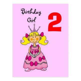 princesse de 2 ans (cheveux blonds) cartes postales