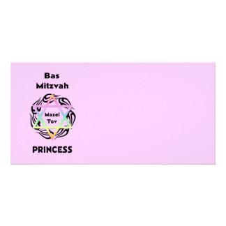 Princesse de Bas Mitzvah Carte Avec Photo