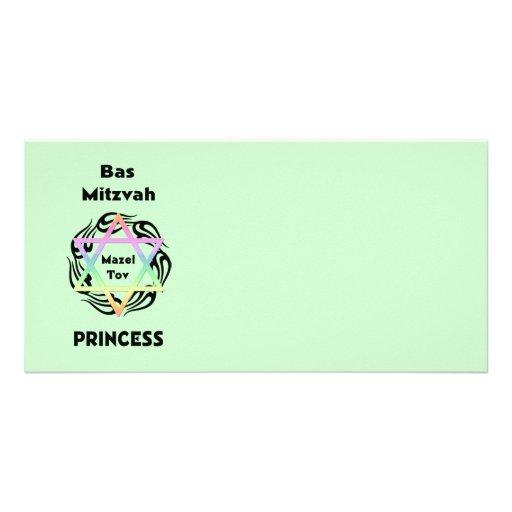Princesse de Bas Mitzvah Photocarte Personnalisée