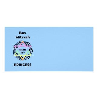 Princesse de Bas Mitzvah Cartes De Vœux Avec Photo