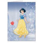 Princesse de blanc de neige carte de vœux