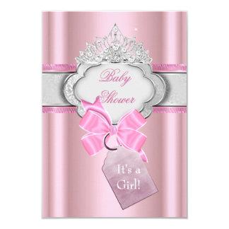 Princesse de diadème de rose de fille de princesse carton d'invitation 8,89 cm x 12,70 cm