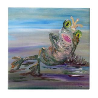 Princesse de grenouille petit carreau carré