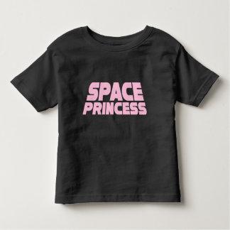 Princesse de l'espace - noir fin de T-shirt du