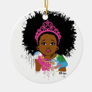 Princesse de moka ornement rond en céramique