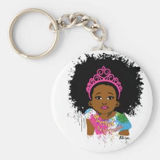Princesse de moka porte-clé rond
