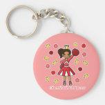 Princesse de pom-pom girl porte-clé