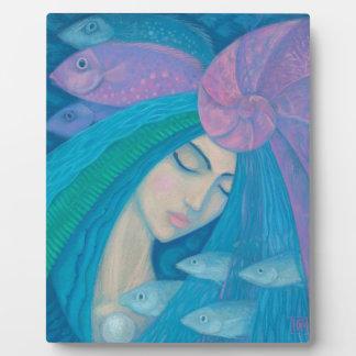 Princesse de sirène, imaginaire sous-marin, bleu plaque d'affichage