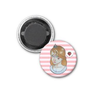 Princesse des as - aimant de réfrigérateur (rose)