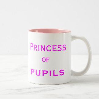 Princesse du nom femelle spécial de professeur tasse 2 couleurs