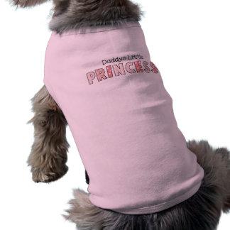Princesse du papa d'habillement d'animal familier  t-shirt pour chien