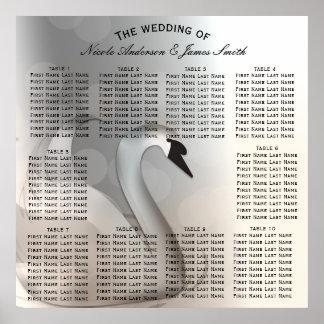 Princesse Elegant Wedding Table Seat de cygne Poster