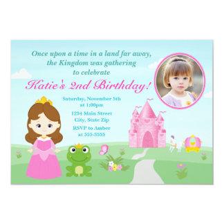 Princesse et la brune d'invitation d'anniversaire carton d'invitation  12,7 cm x 17,78 cm