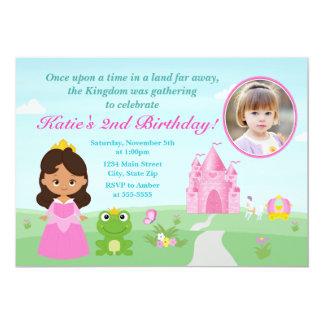 Princesse et l'invitation d'anniversaire de carton d'invitation  12,7 cm x 17,78 cm