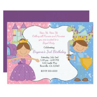 Princesse et prince Castle Royal Party Invitation