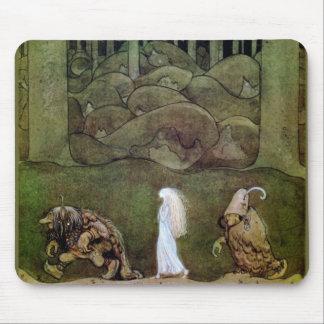 Princesse et promenade de trolls par la forêt tapis de souris