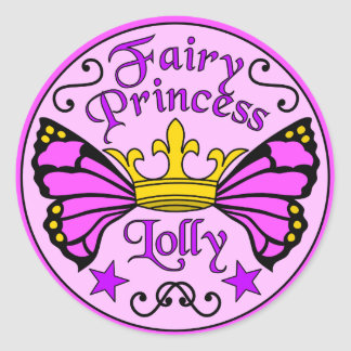 Princesse féerique Lolly Stickers