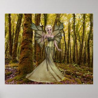 Princesse Forest Poster d'art d'imaginaire