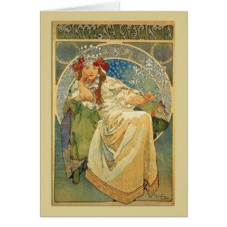 Princesse Hyacinth Note de Nouveau d'art ou carte