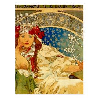 Princesse Hyacinth par Mucha Carte Postale