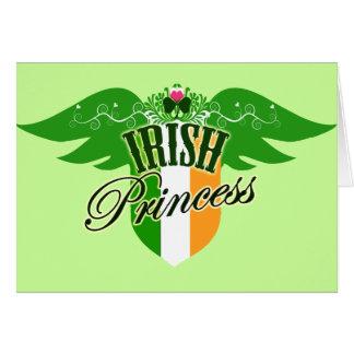 Princesse irlandaise carte de vœux