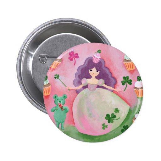 Princesse irlandaise Painting de petit gâteau Badges Avec Agrafe