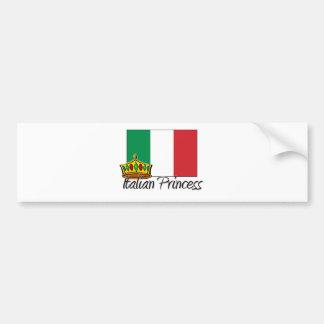 Princesse italienne adhésifs pour voiture