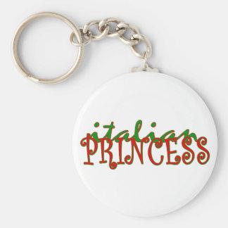 Princesse italienne porte-clé rond