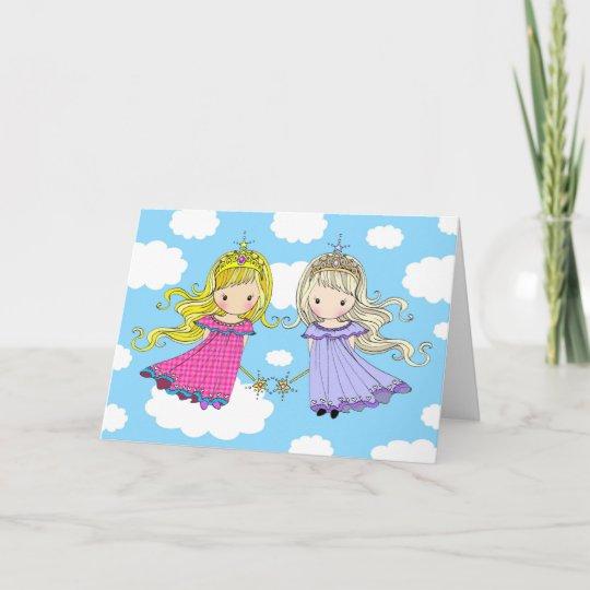 Princesse Jumelle De Fee De Carte D Anniversaire Zazzle Fr