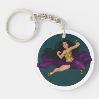 Princesse Lucy Corsetry Round Keychain de guerrier Porte-clés