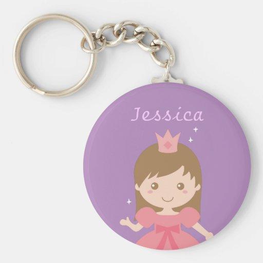 Princesse mignonne, rose pour de petites filles porte-clef