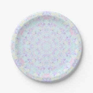 Princesse Pastel Mandala Assiettes En Papier