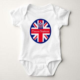 Princesse personnalisée Union Jack T-shirt