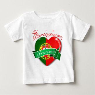 Princesse portugaise t-shirt pour bébé