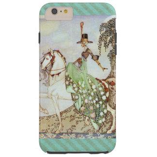 Princesse Riding de conte de fées un cheval blanc Coque iPhone 6 Plus Tough