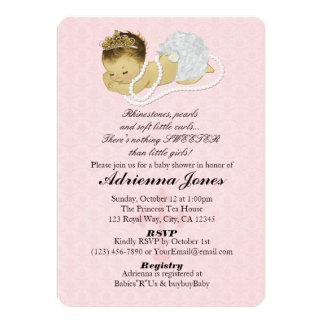 Princesse ROSE 147 d'invitations de douche de bébé Carton D'invitation 12,7 Cm X 17,78 Cm