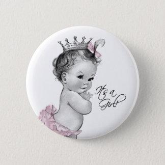 Princesse rose adorable Its un bouton de fille Pin's