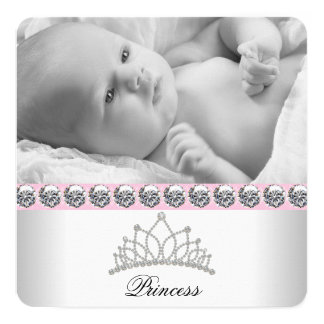Princesse rose Birth Announcements Carton D'invitation 13,33 Cm