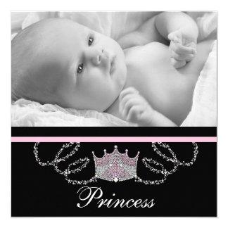 Princesse rose Birth Announcements de filles Carton D'invitation 13,33 Cm