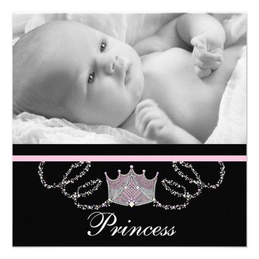Princesse rose Birth Announcements de filles Invitations Personnalisées