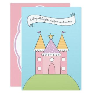 Princesse rose de l'invitation   d'anniversaire carton d'invitation  12,7 cm x 17,78 cm