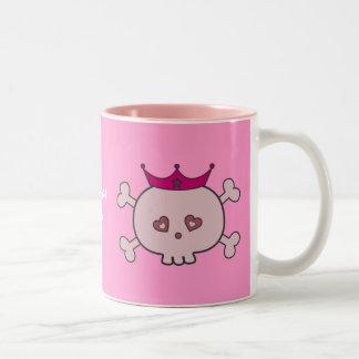 Princesse rose mignonne Skulls Personalized Tasse À Café
